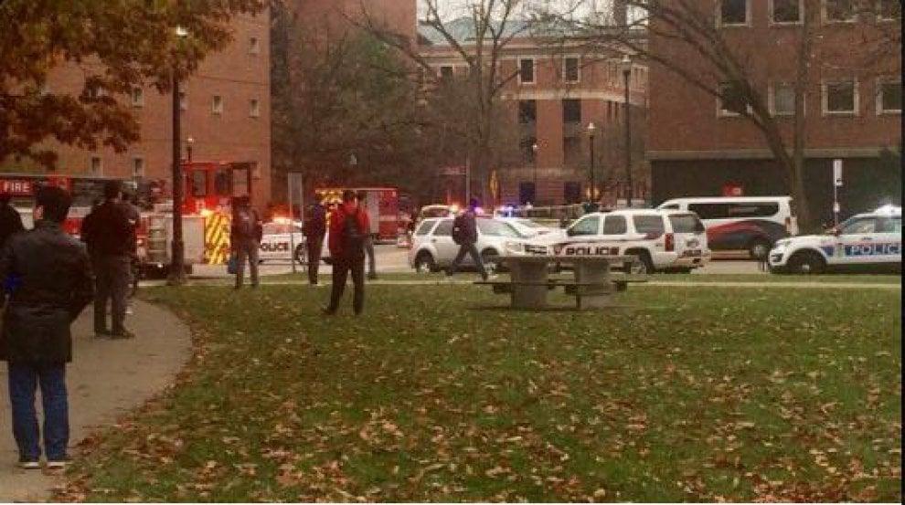 Usa, spari all'università dell'Ohio: le prime immagini