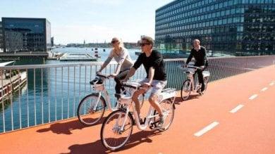 Più biciclette che auto private  a Copenaghen traffico green