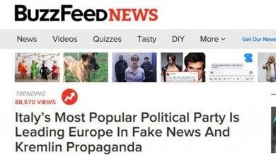 """M5s, l'inchiesta di Buzzfeed è un caso """"Partito leader nel diffondere bufale"""""""