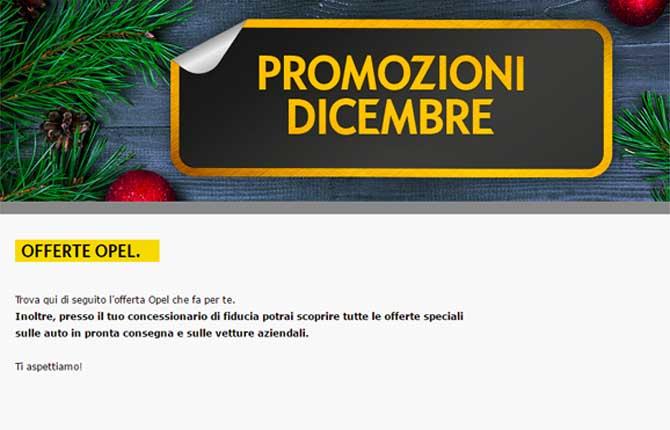 Opel Italia, a dicembre fioccano le promozioni
