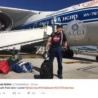 """""""Antartide arrivo"""". L'ex astronauta Buzz Aldrin in partenza per il Polo Sud"""