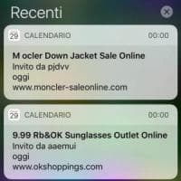 iPhone, boom di spam nel calendario