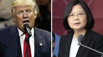 """Trump , prima crisi internazionale telefonata con la leader di Taiwan  Ira di  Pechino : """"La Cina siamo noi"""""""