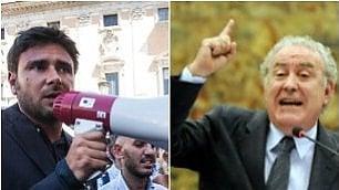 """Santoro contro Di Battista """"Lui è figlio di un fascista"""""""