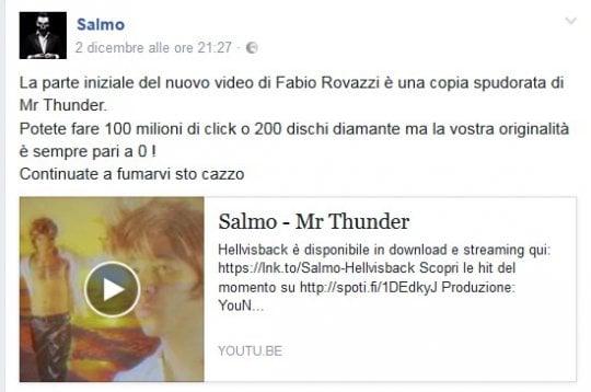 Fabio Rovazzi, il nuovo video accusato di plagio da Salmo. Il battibecco infinito