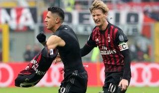 Milan-Crotone 2-1, il morso finale di Lapadula tiene il diavolo al secondo posto