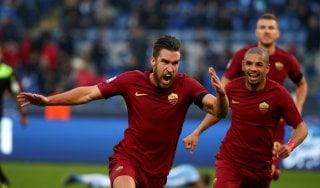 Lazio-Roma 0-2, Strootman e Nainggolan decidono il derby