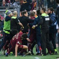 Derby  Lazio - Roma: segna Strootman e si scatena la rissa
