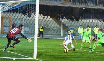 Borriello non basta, Cagliari beffato   I gol   Caprari salva il Pescara al 91'   foto