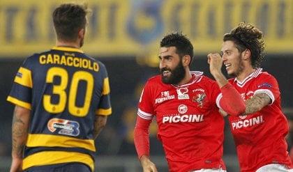 Il Verona sciupa e manca l'allungo   I gol   Belmonte nel recupero, pari Perugia