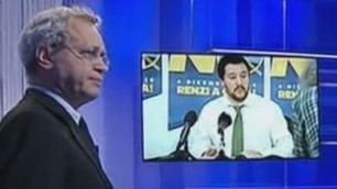 """Mentana scherza su Salvini  """"Si crede Bruce Willis nello spot"""""""