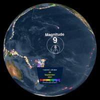 Terremoti, in un video i sismi dei primi 15 anni del millennio