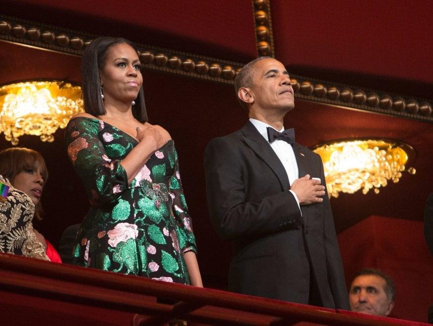 """New York Times: """"Quel vestito di Michelle Obama è un messaggio di solidarietà per Renzi?"""""""