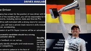 Mercedes, per il dopo Rosberg    Spunta l'annuncio di lavoro