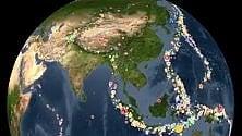 Terremoti, 15 anni in 3': le scosse in un video   L'animazione  2001-2015
