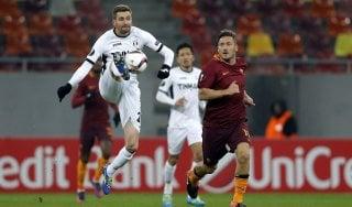 Astra Giurgiu-Roma 0-0, i giallorossi non pungono. Brutti cori durante il raccoglimento