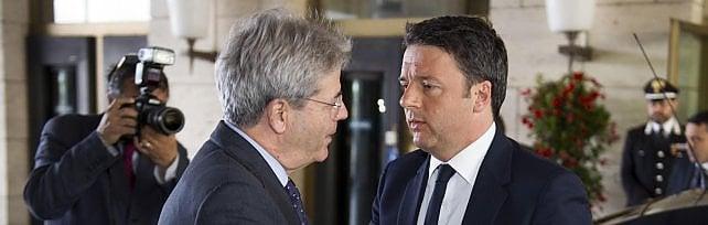 Padoan e Gentiloni da Renzi a Palazzo Chigi