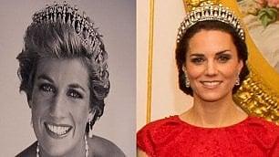Kate, omaggio di stile a Diana indossa la sua tiara preferita