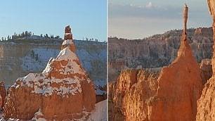Gelo fa crollare la Sentinella,  roccia-simbolo del Bryce Canyon