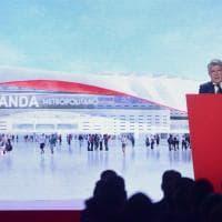 Spagna, l'Atletico presenta il nome del nuovo stadio e il logo rinnovato