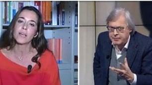 """Ronzulli (Fi) e Sgarbi, lite in diretta """"Maleducato"""". """"E tu sei cretina"""""""