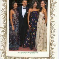 """L'ultima cartolina di Natale degli Obama: ''Grazie per la gioia che abbiamo condiviso"""""""