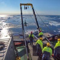 """""""Pescando carote"""" nell'Artico, ricercatori Cnr studiano il permafrost"""