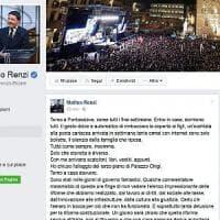 Renzi su Facebook e Twitter: