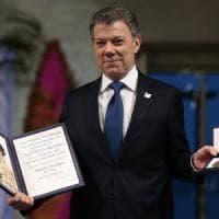 """Juan Manuel Santos: """"C'è una guerra in meno, l'impossibile è avvenuto, la mia Colombia..."""