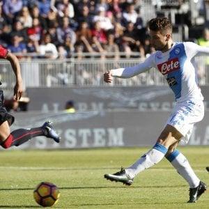 Cagliari-Napoli 0-5: Mertens da favola, è pokerissimo azzurro