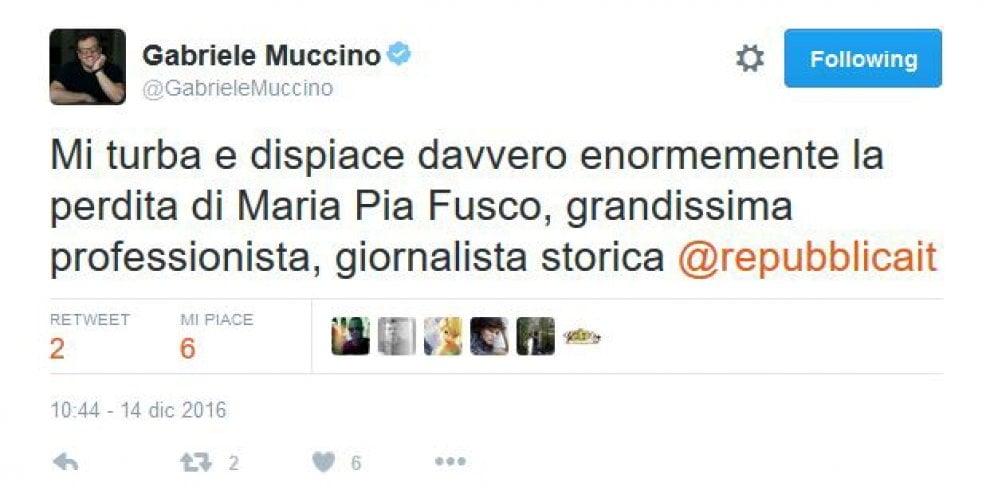 Morta Maria Pia Fusco, da Muccino a Gassmann il cordoglio del mondo del cinema