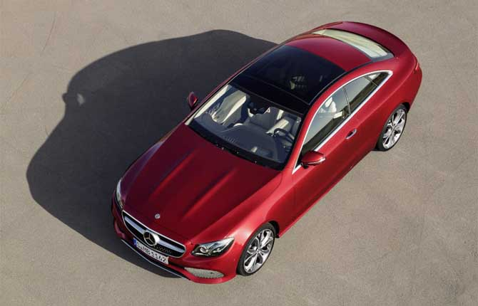 Mercedes-Benz Classe E Coupé, il debutto a Detroit