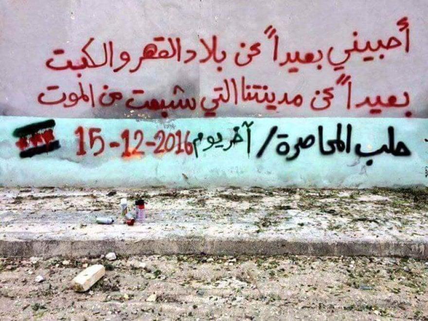 Favoloso Poesie e frasi d'amore sui muri, il triste addio ad Aleppo  TQ31