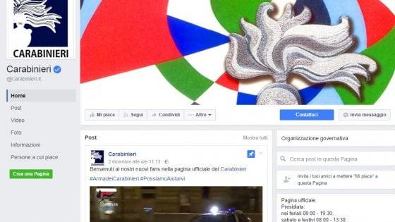 Quei like non voluti sulla pagina dei Carabinieri: mistero su Facebook