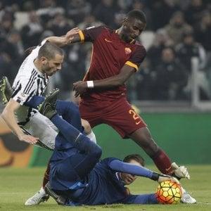 Juventus-Roma: Allegri con Benatia e Chiellini, Spalletti con Salah