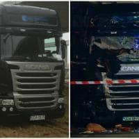 Camion sulla folla a Berlino: il tir prima e dopo lo schianto