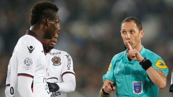 Ligue 1, Balotelli espulso, il Nizza frena. Monaco e Psg si rifanno sotto
