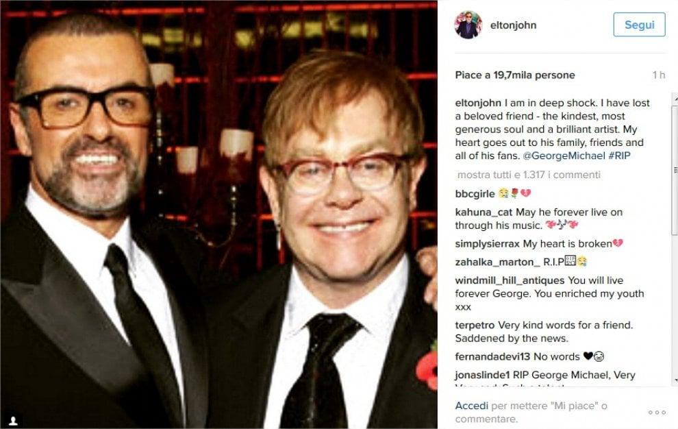Addio a George Michael, da Elton John ai Duran Duran: il ricordo social dei grandi