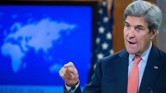 """Israele, Kerry: """"La soluzione a due Stati è in pericolo: quella a uno Stato porta all'occupazione perpetua"""""""