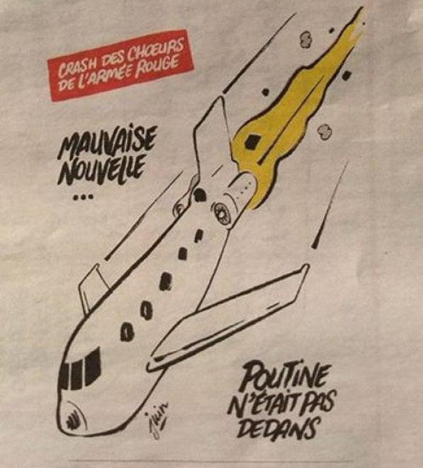 Incidente aereo Mar Nero: la satira di Charlie Hebdo fa infuriare la Russia
