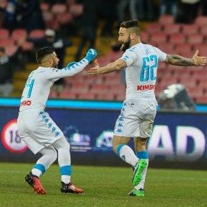 Napoli-Sampdoria 2-1: rimonta azzurra, Tonelli regala i 3 punti al 95'