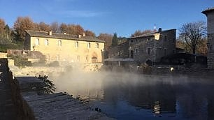 Val d'Orcia: terme d'inverno