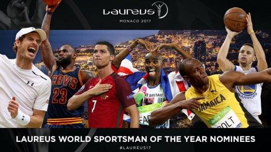 Laureus Awards: Bolt sfida Cristiano Ronaldo. Per l'Italia in corsa anche Bebe Vio