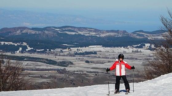 A sciare immersi nel blu. Emozione Calabria d'inverno