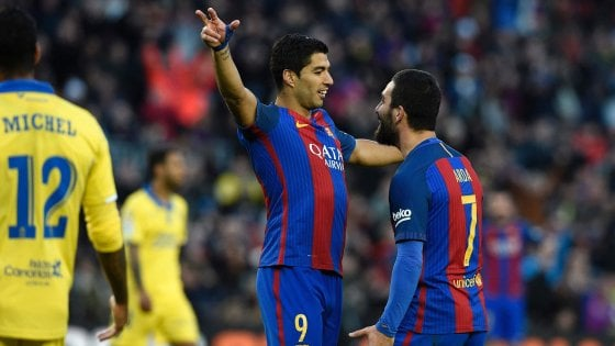 Spagna, manita del Barcellona al Las Palmas: blaugrana secondi