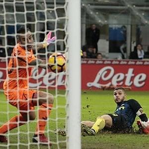 Inter-Chievo 3-1, Pioli mette la quinta con un'altra rimonta nel finale