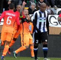 Udinese-Roma 0-1, Nainggolan firma il colpo