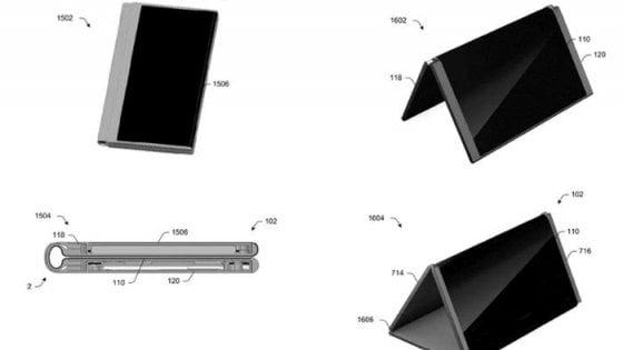 Microsoft sogna il telefono pieghevole: spunta il brevetto