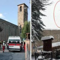 Terremoto Centro Italia, ad Amatrice crolla il campanile Sant'Agostino - Prima/Dopo