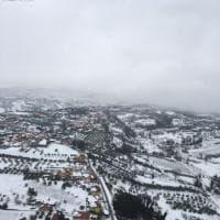 Emergenza neve, Chieti vista dall'elicottero della Polizia